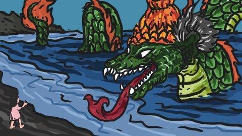 Bertemu Naga Hijau Jadi-jadian di Pantai Selatan, Untung Bukan Nyi Blorong