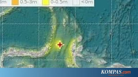 Hingga Jumat Siang, 89 Kali Gempa Susulan Terjadi di Maluku Utara dan Sulawesi