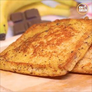 Roti Bantal Pisang Coklat