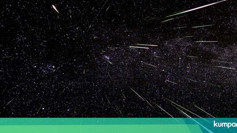 Malam Ini, Puncak Hujan Meteor Perseid Bakal Terlihat dari Indonesia