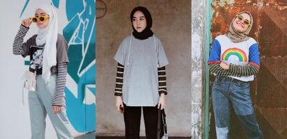 5 Style Hijab Kekinian Instagram Dengan Padu Padan Kaus Dan Stripe Tee