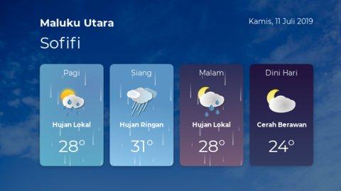 Prakiraan cuaca Maluku Utara - Kamis, 11 Juli 2019