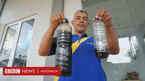 Limbah ciu diduga cemari Sungai Bengawan Solo, belasan ribu pelanggan PDAM 'kesulitan air bersih'