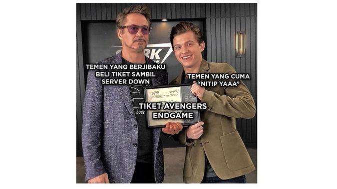 8 Meme Berburu Tiket Avengers Endgame Yang Kocak Habis - Humor