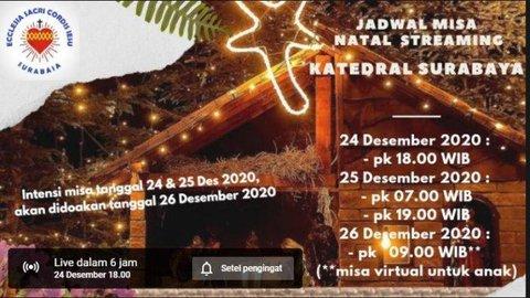 Link Live Streaming Misa Malam Natal 24 Desember Gereja Katolik Keuskupan Surabaya Ini Jadwalnya Kurio