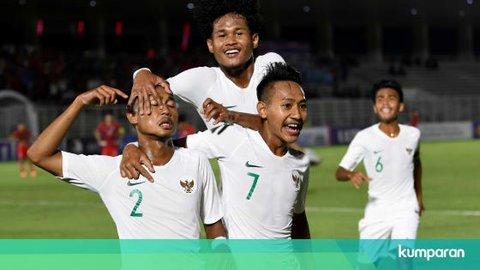 Timnas U-19 Hantam Hong Kong Empat Gol Tanpa Balas