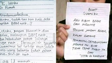 10 Surat Cinta Suami Istri Ini Endingnya Bikin Ketawa Kurio