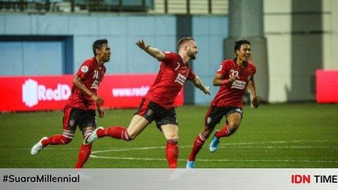 Liga Champions Asia: Bali United Jungkalkan Tampines di Drama 8 Gol