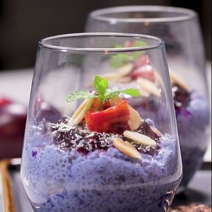 Blue Chia Seed Puding