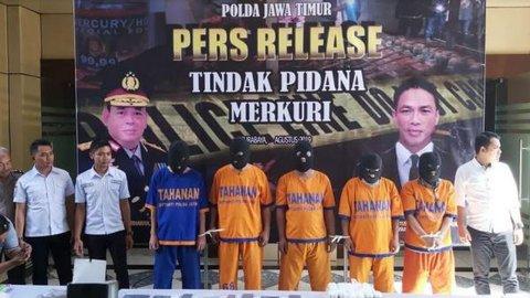 Polda Jatim Bongkar Industri Pengolahan Merkuri Ilegal di Sidoarjo, 5 Ditangkap