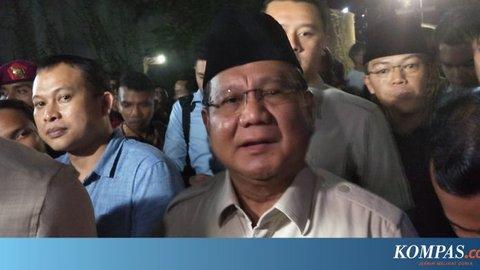 Melayat ke Rumah Duka, Prabowo Sampaikan Belasungkawa ke Keluarga Habibie