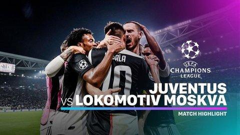 VIDEO: Highlights Liga Champions, Juventus Vs Lokomotiv Moscow 2-1