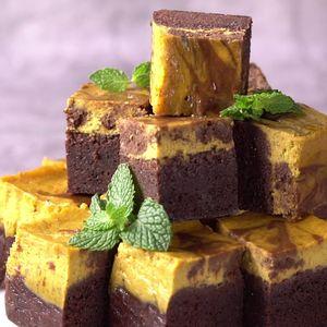 Brownies Pumpkin Cheesecake