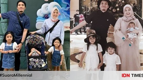 10 Gaya Family Outfit ala Keluarga Desta dan Natasha Rizky