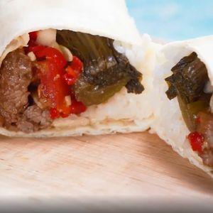 Nasi Burrito Daging Sapi