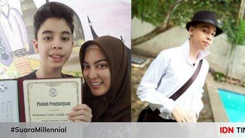 Tumbuh Remaja, 10 Potret Gagah Zarno Putra Semata Wayang Jane Shalimar