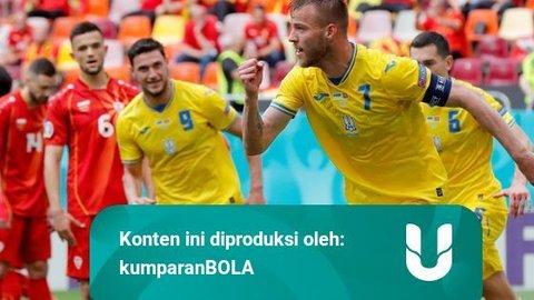 Foto: Ukraina Hajar Makedonia Utara di Euro 2020