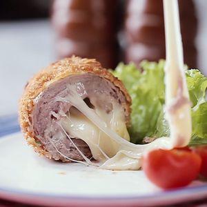 Layered Beef Cheesy Katsu