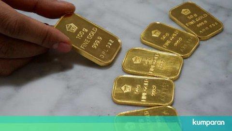 Harga Emas Antam Turun Rp 1.000 per Gram