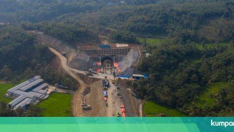 Foto Udara: Progres Pembangunan Kereta Cepat Jakarta-Bandung