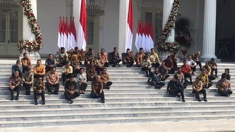 Pesan Jokowi pada menteri usai umumkan Kabinet Indonesia Maju