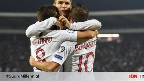 Borong Empat Gol Lawan Lithuania, Cristiano Ronaldo Pecahkan Rekor!