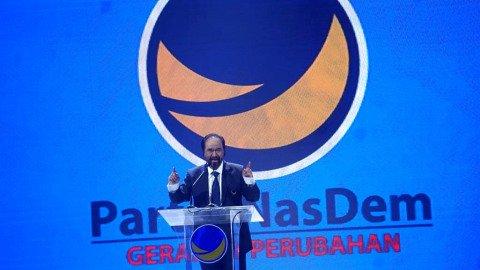 Ketua Umum Partai NasDem Surya Paloh memberikan pidato pada Kongres II Partai NasDem, Jakarta, Jumat (8/11/2019). Foto: Fanny Kusumawardhani/kumparan