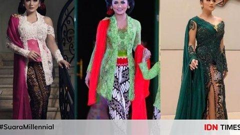 9 Kebaya Krisdayanti Rancangan Anne Avantie Bak Putri Keraton Kurio