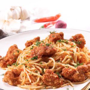 Spaghetti Ayam Sambal Bawang